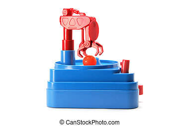 Skill Tester Toy on White Background