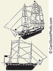 The Ancient Sailing Ship