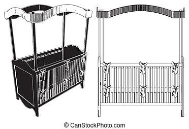 Baby Bed Vector