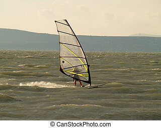 Windsurfing in summer