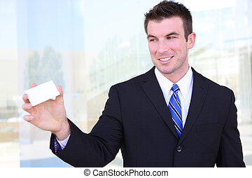 Business Man with Card