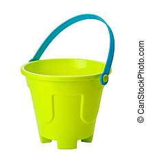 Toy Sand Pail clipping path - Beach Toy Sand Pail isolated...