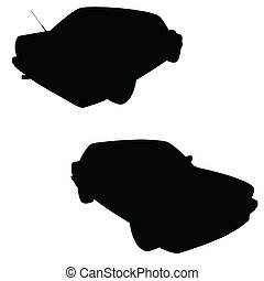 car black vector silhouette