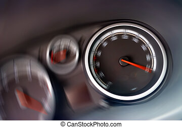 Overboost. Feel Your Drive! - Dashboard (speedometer and...