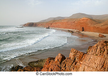 Coast of the Atlantic Ocean. Morocco