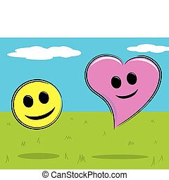 Smiley Face and Heart