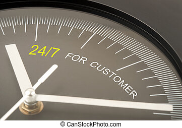 24/7 for customer text on clock