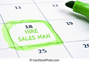 Hire sales man mark