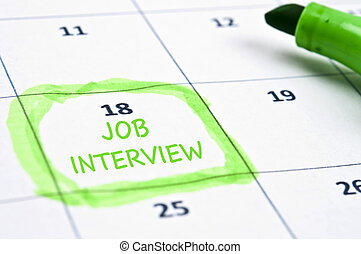 Job interview mark - Calendar mark with Job interview
