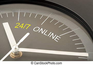 24/7 online text on clock