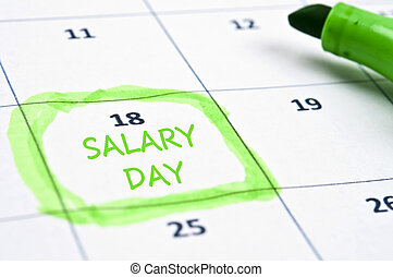Salary day mark - Calendar mark  with Salary day