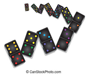domino - an illustration of black domino pieces with spots...