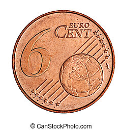 A collage of 6 euro cent coin