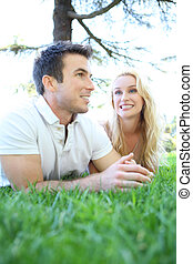 Attractive Couple in Love (Focus on Woman)