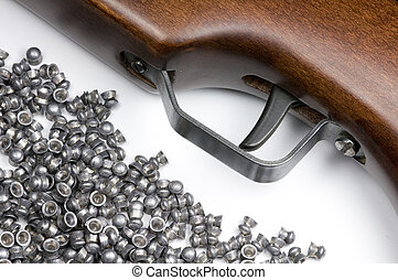 Air Rifle and Pellets - An Air Rifle trigger and a selection...