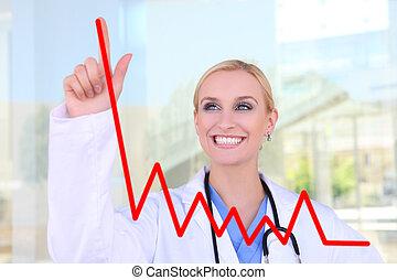 圖表, 護士, 圖畫, 相當