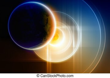 Abstract planet backup on big hard disk - Planet Earth...