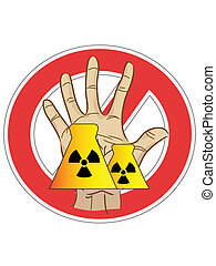 no nuclear power sign - the sign of no nuclear power