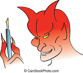Deal With The Devil - Devil holding a pen for someone...