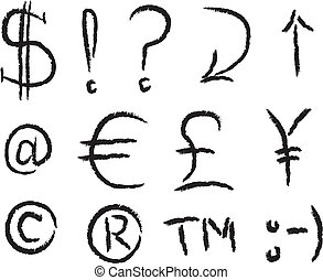 Grunge Symbols - Common Symbols that are often used as...