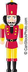 Nutcracker - Holiday nutcracker with black hair.