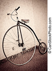 Penny farting bicycle - Vintage look of old Penny farthing...