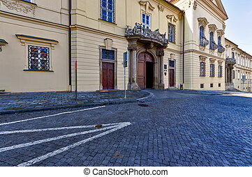 Brno New Town Hall - View of the exterior of the New Town...