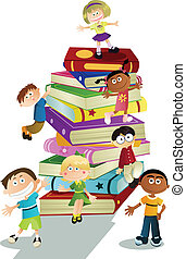 Children education - A vector illustration of students and...