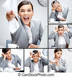 Different situations - Collage of businesswoman in different...