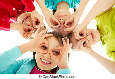 Youth and fun - Image of happy kids representing youth and...