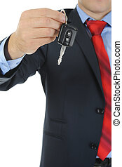 Businessman gives the keys to the car - Image of a...
