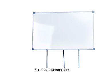 Whiteboard  - Image of a whiteboard isolated on white