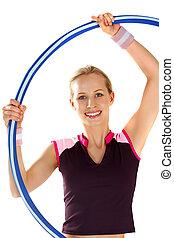 Twirling a hoop
