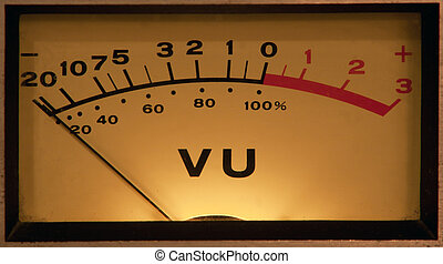 VU Meter illuminated - vintage vu meter with light