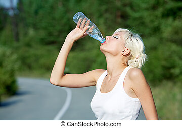 Drink on hot day