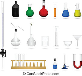 Science lab equipment tool - A set of lab equipment and tool...