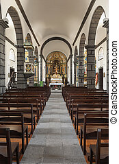Church in Azores - Interior of the church of S. Joao - St....