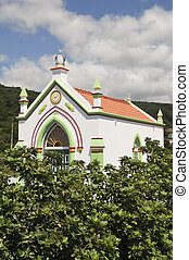 Small church named imperio in Pico island, Azores