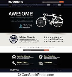 Web Design Website Element Template - A web design layout...