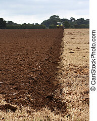Furrow - Freshly ploughed furrow in a field