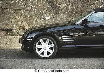自動車, スポーツ, 黒