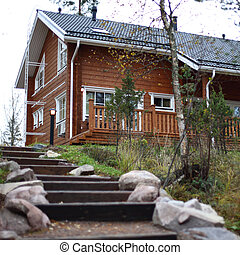 cottage -  cottage in forest on hill
