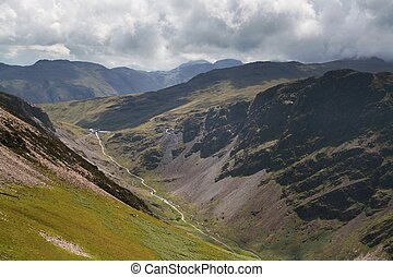 Honister Pass 4 - A view of the Honister Pass from the...
