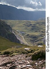 Honister Pass 3 - A view of the Honister Pass from the...
