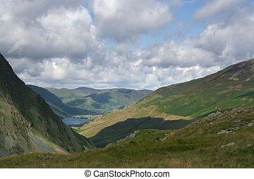 Honister Pass 2 - A view towards Buttermere along the...
