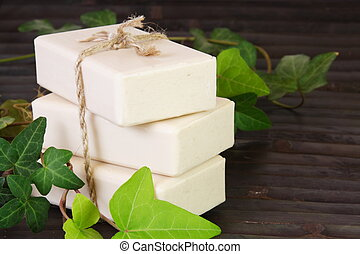 Stack of Natural Ingredients Soap