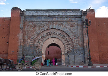 Kasbah entrance - Marrakesh's kasbah entrance with the...