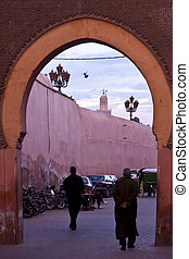 Kasbah entrance - Marrakeshs kasbah entrance with the storks...