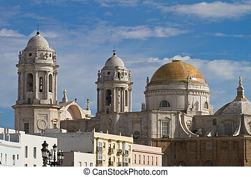 Cathedral of Cadiz - View from south to the cathedral of...
