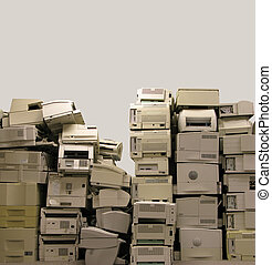 E-waste - Old printer ready for recycling
